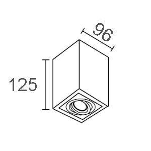 ขนาดดาวน์ไลท์ติดลอย-CORE-S-GU10