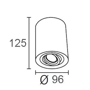 ขนาดไฟดาวน์ไลท์ติดลอย-CORE-R-GU10