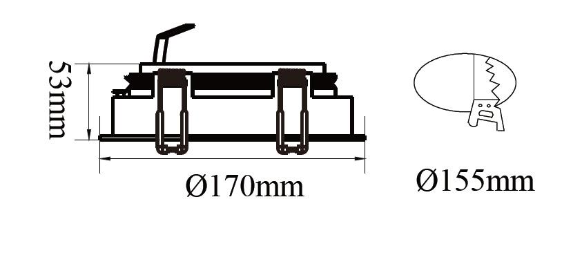ขนาดไฟดาวน์ไลท์-AR111 SAKURA-R