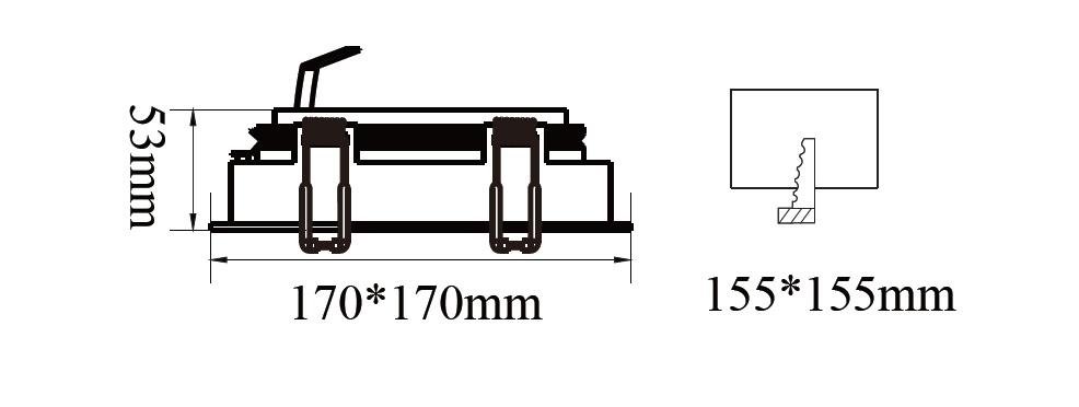 ขนาดไฟดาวน์ไลท์-AR111 SAKURA-S1