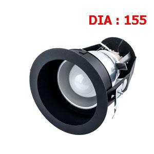 ไฟดาวน์ไลท์สีดำ ขั้ว E27-LUXX-MBB-E27