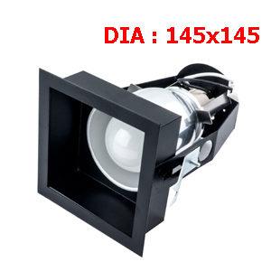 ไฟดาวไลท์สีดำ HEX-MB1 ขั้ว E27